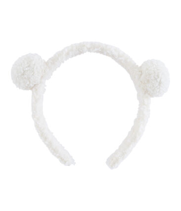 Mädchen-Haarreif weiss Marshmallow