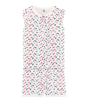 Kurzpyjama aus Rippstrick für kleine Mädchen