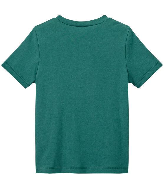Jungen-T-Shirt mit Brusttasche grün Olivier