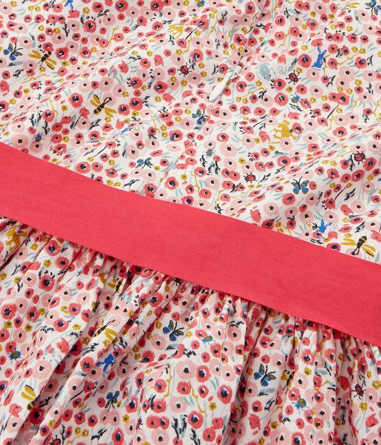 Kinder-Kleid Mädchen weiss Marshmallow / weiss Multico
