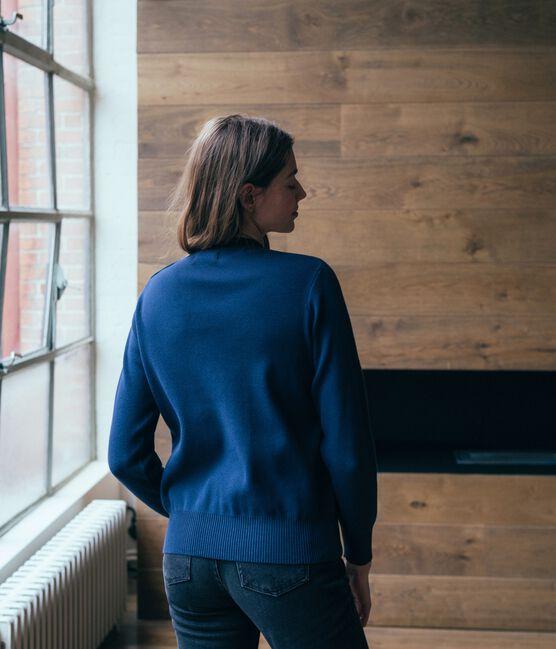 Damenpullover blau Smoking