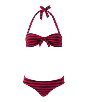 Gestreifter Damen-Bandeau-Bikini