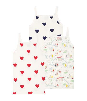 3er-Set Trägerhemden für kleine Mädchen