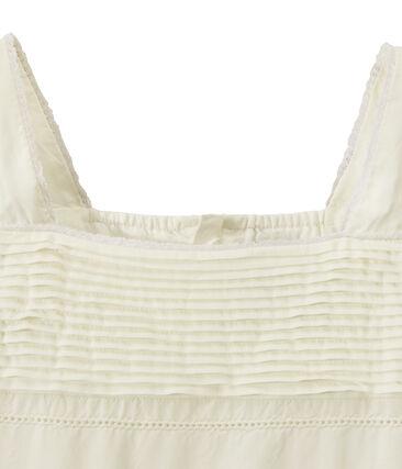 Mädchen-Kleid aus Spitze und Baumwolle