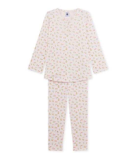 Pyjama fille à imprimé petites fleurs rosa Vienne / weiss Multico