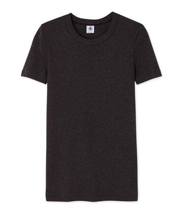Emblematisches kurzärmliges T-Shirt für Damen grau City Chine