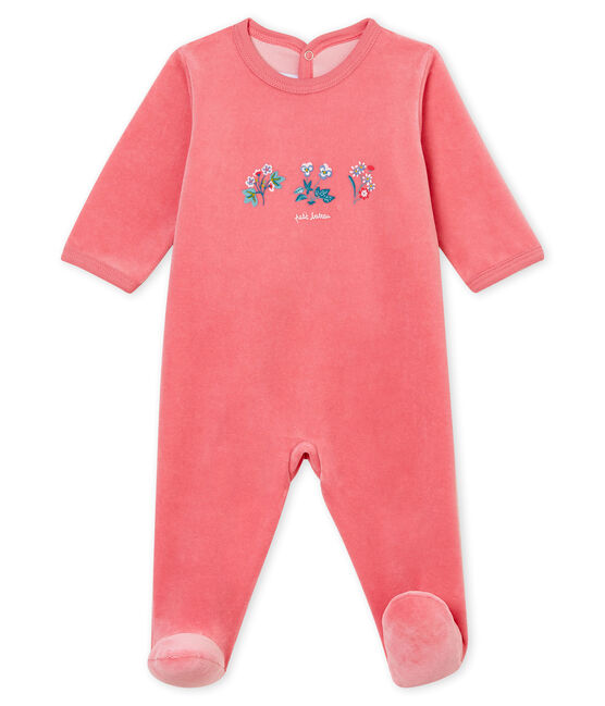 Baby-Strampler rosa Cheek