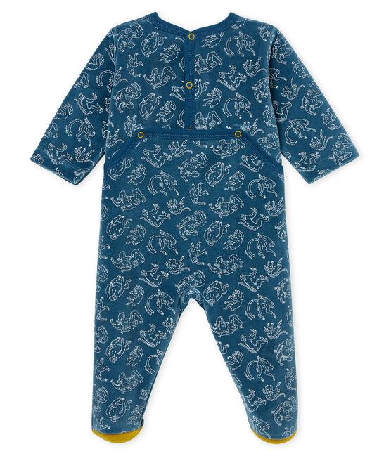 Baby-Strampler aus Baumwolle für Jungen blau Shadow / weiss Marshmallow