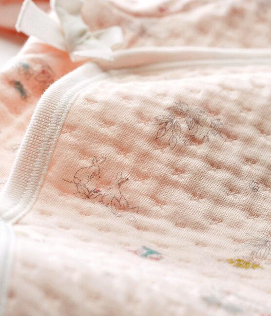 Baby Strampler aus gedoppeltem Jersey für Mädchen rosa Vienne / blau Fontaine