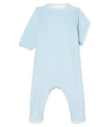 Baby-Strampler aus Samt für Jungen blau Fraicheur