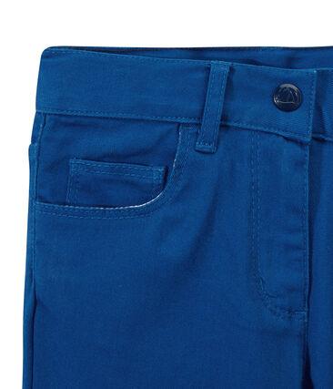 Mädchen-Hose aus farbigem Denim