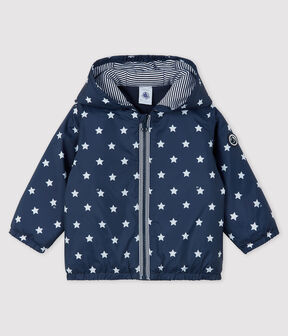 Baby Jacke mit Print für Mädchen/Jungen blau Smoking / weiss Marshmallow