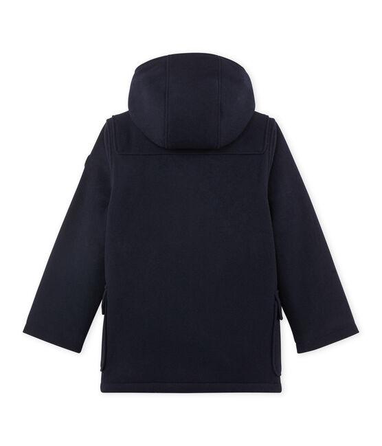 Gefütterter Jungen-Dufflecoat aus Wolle blau Smoking