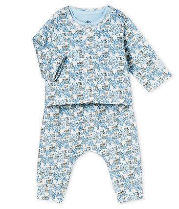 3-teiliges Baby-Set aus Rippstrick für Jungen weiss Marshmallow / weiss Multico