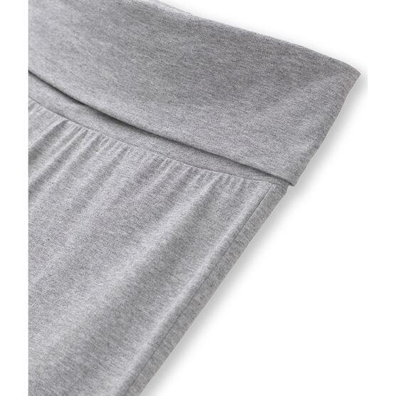 Einfarbige Damen Tanzhosen aus Lycra Jersey grau Poussiere Chine