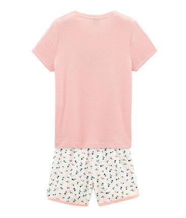 Kurzpyjama aus aufgerautem Frottee für kleine Mädchen