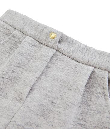 Mädchen-Hose aus Molton grau Vicky Bleu Chine