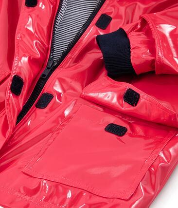Lack-Regenjacke für Mädchen rot Signal
