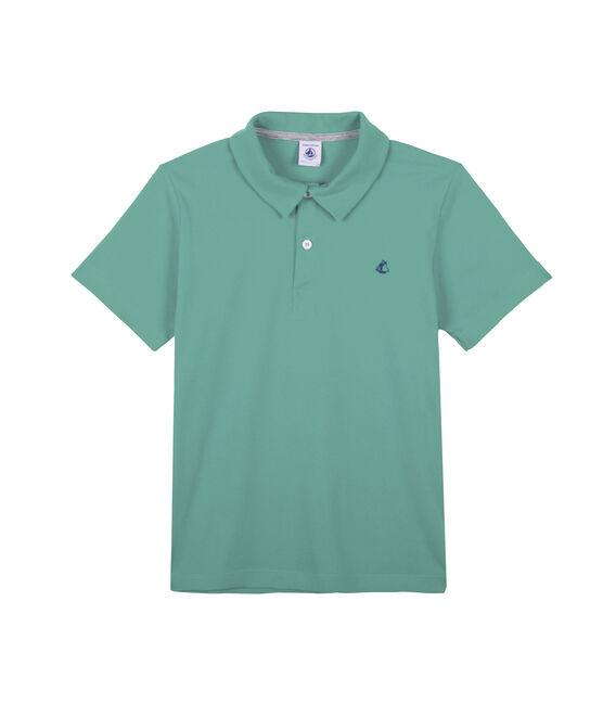 Kinder-Poloshirt Jungen grün Aloevera