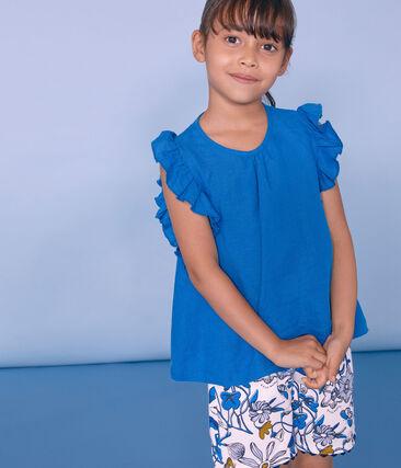 Kinder-Bermuda Mädchen weiss Marshmallow / weiss Multico