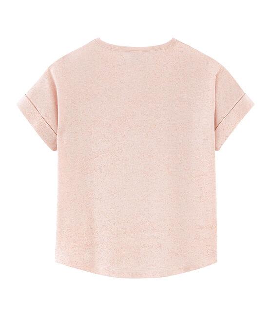 Kurzärmeliges Kinder-T-Shirt Mädchen rosa Pearl / rosa Copper