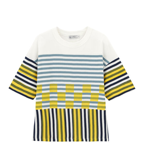 Grafisches kurzarm-t-shirt unisex weiss Marshmallow / weiss Multico