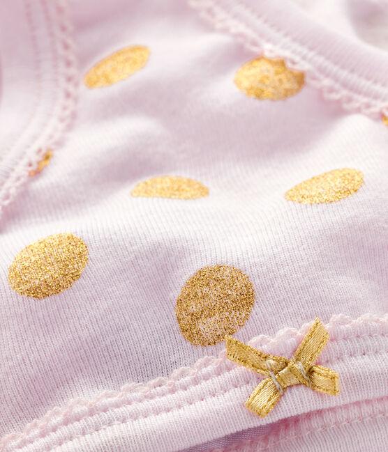 Unterhose für kleine Mädchen rosa Vienne /  gelb Or