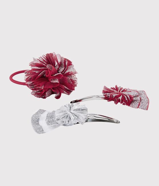 Set mit Haarspange und Haargummi für Mädchen lot .