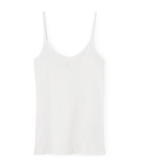 Trägerhemd damen aus leichter baumwolle weiss Marshmallow
