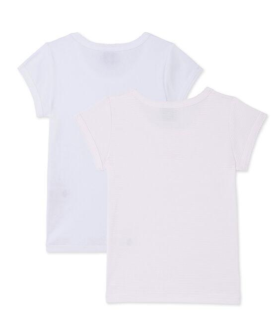 Teenie-Mädchen-T-Shirts im 2er-Set lot .