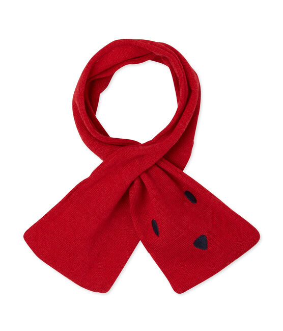 Unisex Baby Schal rot Froufrou
