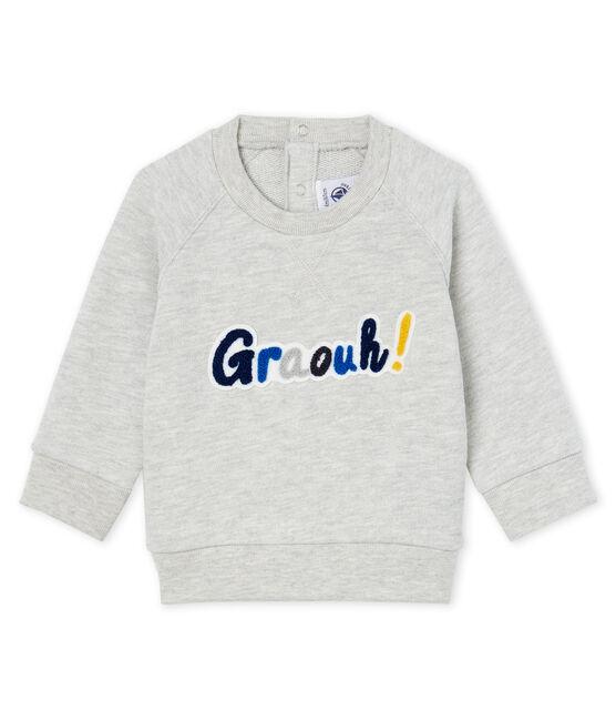 Baby-Sweatshirt aus Molton für Jungen grau Beluga