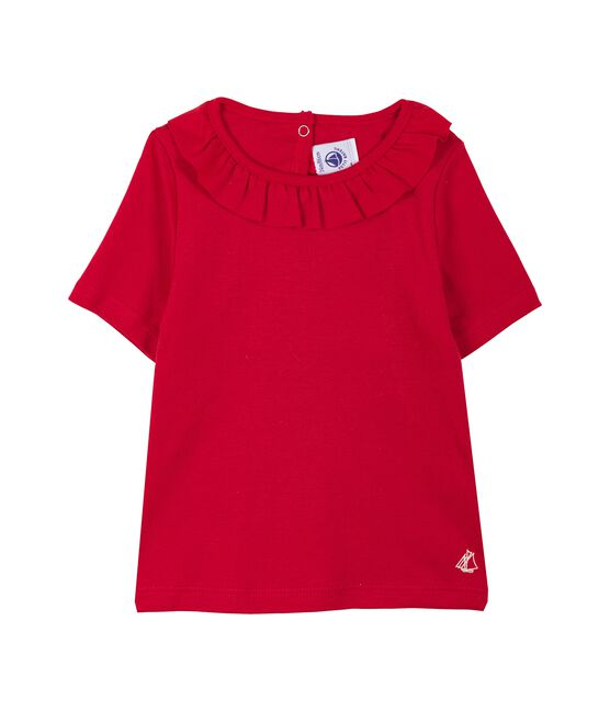 Kurzärmelige baby-bluse mädchen rot Terkuit