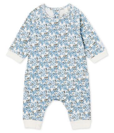 Langer Baby-Overall aus Rippstrick für Jungen