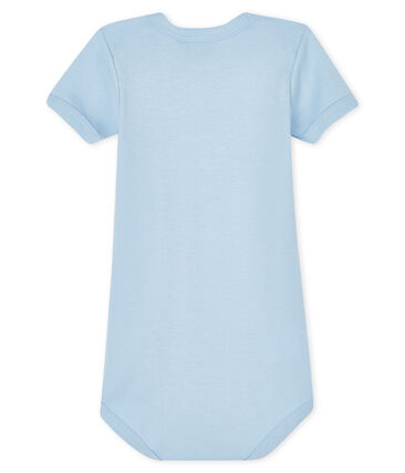 Langärmliger Baby-Body für Jungen-Mädchen blau Jasmin