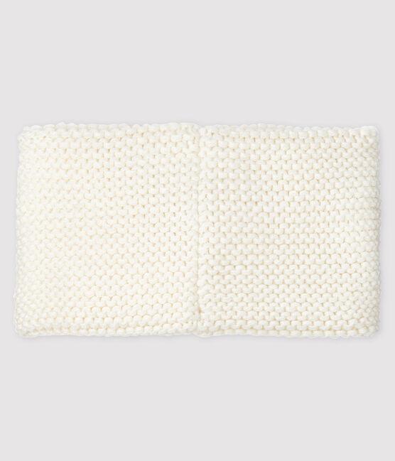 Einfarbiger Baby-Schlauchschal für Mädchen weiss Marshmallow