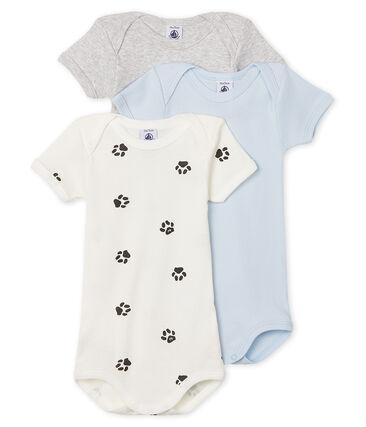 Trio langärmelige Baby-Bodys für Jungen