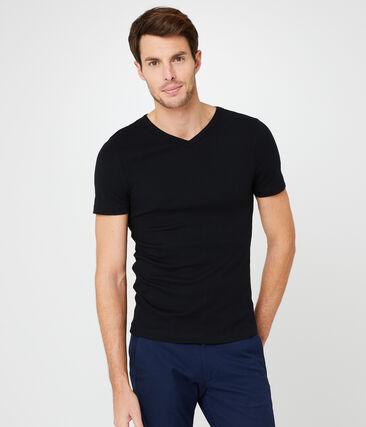 Kurzärmeliges t-shirt v-ausschnitt herren