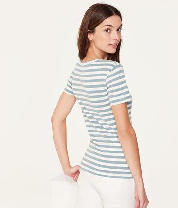 Kurzarm-t-shirt rundhalsausschnitt damen