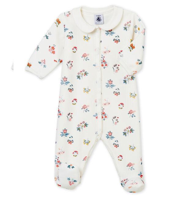 Baby MädchenStrampler weiss Marshmallow / weiss Multico