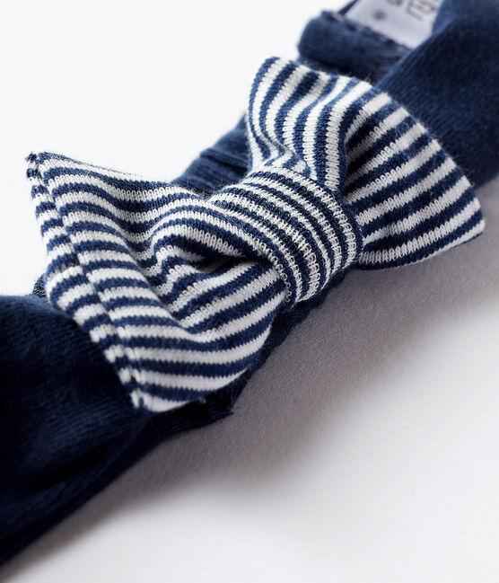 Baby-haarband mädchen blau Haddock