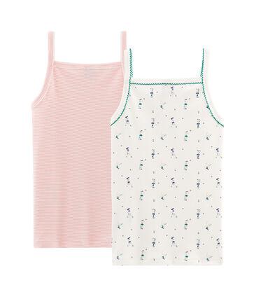 Duo Trägerhemden für kleine Mädchen