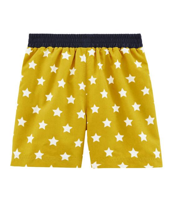 Strandshort Jungen gelb Bamboo / weiss Marshmallow