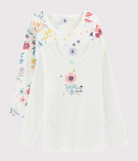 2er-Set langärmlige T-Shirts mit Blumen-Print für kleine Mädchen lot .