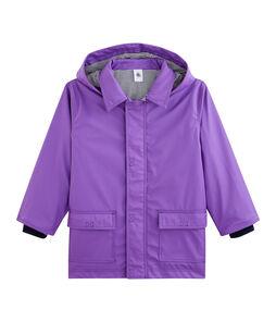 Kinder-Regenjacke für Mädchen und Jungen violett Real