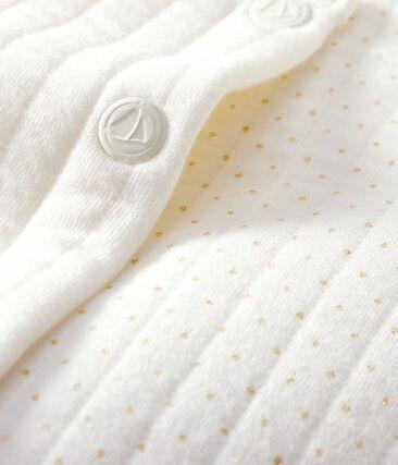 Baby-Cardigan aus gestepptem Doppeljersey für Mädchen weiss Marshmallow