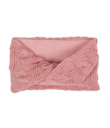 Kinderschlauchschal für Mädchen rosa Charme / gelb Or