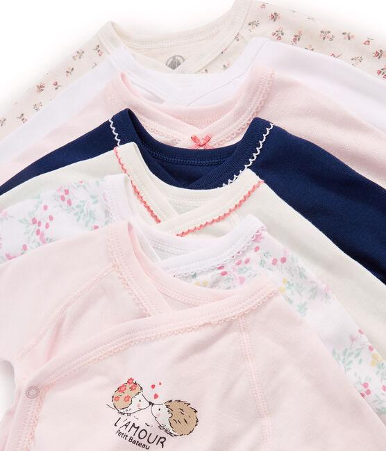 Überraschungsbeutel mit sieben langärmeligen Neugeborenen-Bodys für Baby Mädchen lot .