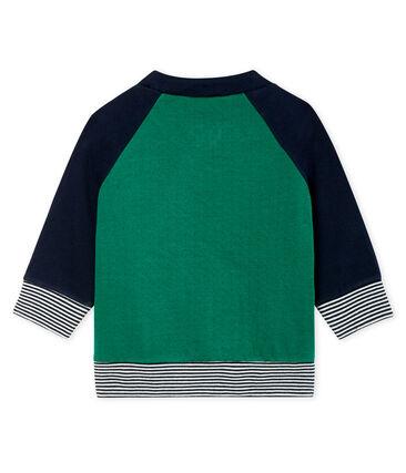 Baby-Cardigan aus Doppeljersey mit Reißverschluss für Jungen grün Ecology / blau Smoking