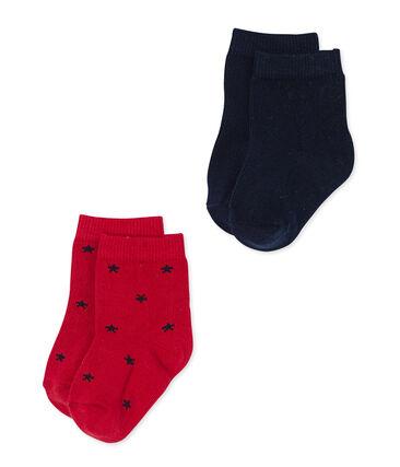 Set aus Baby-Jungen-Socken in Uni + mit Sternen lot .